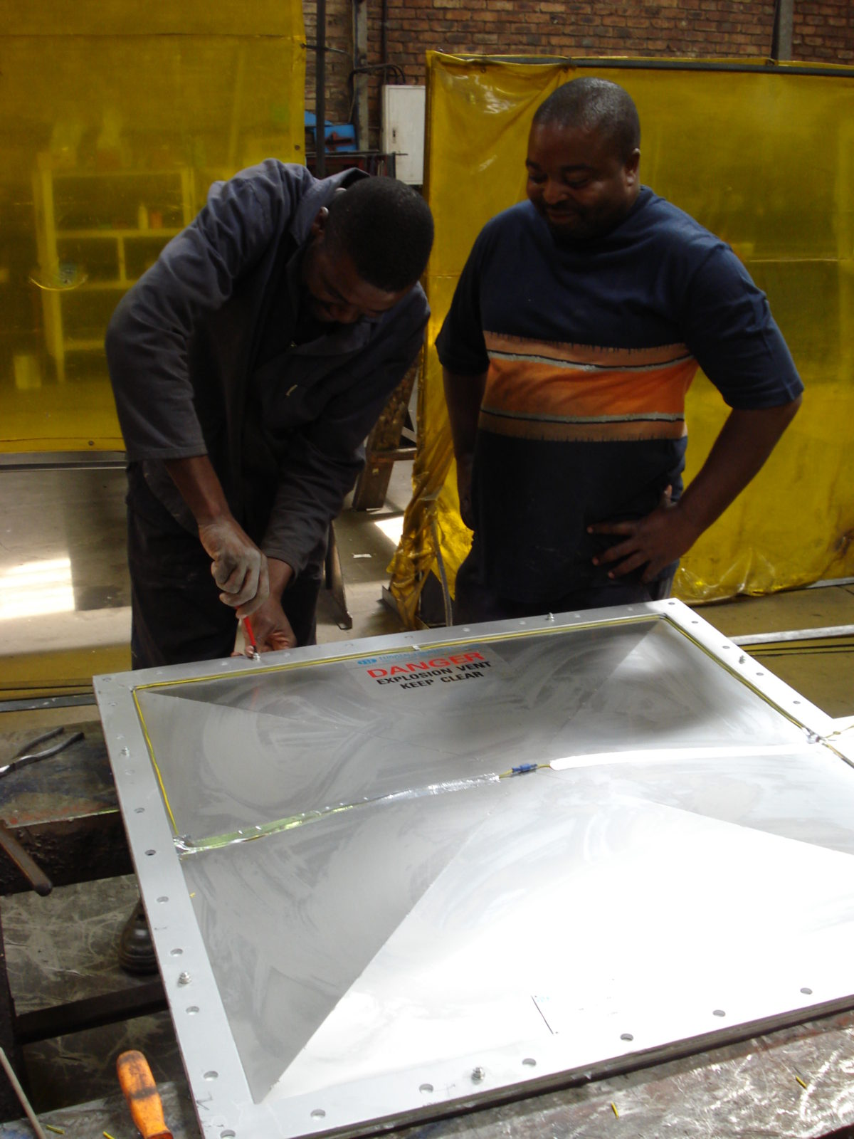 Assembly of Explosion Panels